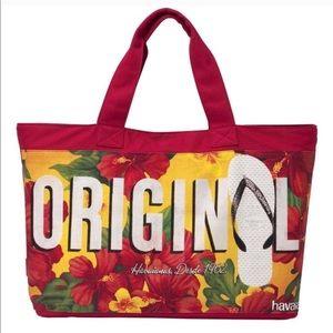 [ havaianas ] NWT original canvas tote shopper bag